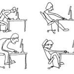 как не надо сидеть при работе за компьютером фото